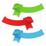 Fitas de Origami Imagem de Stock Royalty Free