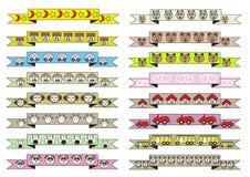 Fitas diferentes bonitos do estilo dos desenhos animados Imagem de Stock