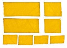 Fitas do amarelo de Grunge Imagens de Stock