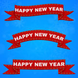 Fitas do ano novo feliz Foto de Stock Royalty Free