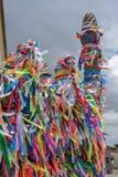 Fitas do desejo da igreja de Bonfim em Salvador Bahia, Brasil fotografia de stock royalty free