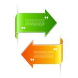 Fitas do texto das citações Imagens de Stock Royalty Free