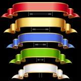 Fitas do vetor ajustadas isoladas no fundo preto Fotografia de Stock