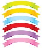 Fitas do vetor curvado em 6 cores ilustração stock