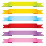 Fitas do vetor em 6 cores ilustração do vetor