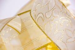 Fitas douradas Imagens de Stock Royalty Free