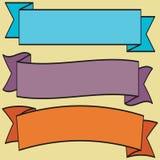 Fitas e coleção retros ajustadas do vetor da etiqueta Fotografia de Stock