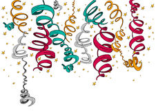 Fitas e confetes dos feriados isolados Fotografia de Stock Royalty Free