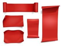 Fitas e ilustração vermelhas do vetor das bandeiras ilustração stock