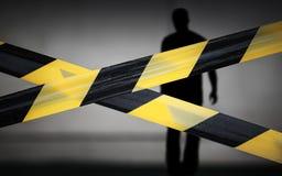 Fitas e violador listrados pretos e amarelos Imagens de Stock Royalty Free