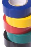 Fitas elétricas do PVC isoladas Imagens de Stock