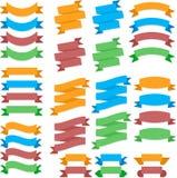 Fitas lisas coloridas Fotografia de Stock