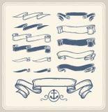 Fitas náuticas sobre o fundo branco Imagem de Stock Royalty Free