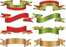 Fitas ou bandeiras ilustração royalty free