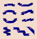 Fitas ou bandeiras nas cores da bandeira de Nova Zelândia ilustração royalty free