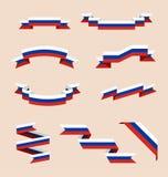 Fitas ou bandeiras nas cores da bandeira do russo Foto de Stock
