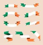 Fitas ou bandeiras nas cores da bandeira irlandesa ilustração royalty free