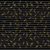 Fitas serpentinas, no fundo Confetes das flâmulas Ilustração do vetor da decoração dourada Decorati dourado de queda Foto de Stock