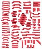Fitas vermelhas da coleção grande ilustração royalty free