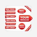 Fitas vermelhas (preço novo, venda quente) Imagem de Stock Royalty Free