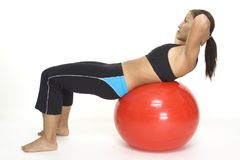 Fitball Crunch 2 Stock Image