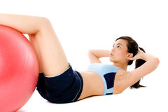 Fitball Crunch Stock Image