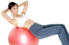 Fitball Exercise Stock Photos