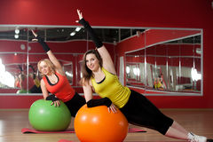 Fitball practice Royalty Free Stock Images