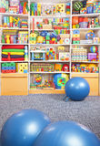 Fitball in room Stock Image