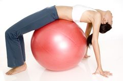 Fitball Stretch Royalty Free Stock Photo