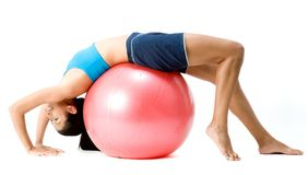 Fitball Stretch Stock Image