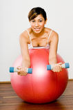 Fitball Workout Stock Photography