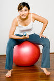 Fitball Workout Stock Photo