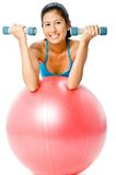 Fitball Workout Royalty Free Stock Photography