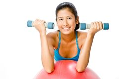 Fitball Workout Royalty Free Stock Images