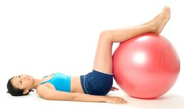 Fitball Workout Stock Image