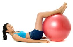 Fitball Workout Stock Photos