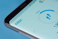 Fitbit zastosowania menu Obraz Royalty Free