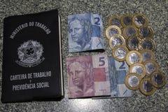 Fitch Downgrades Brazil till den spekulativa nivån Arkivfoto