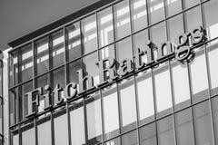 Fitch Ratings i London - LONDON - STORBRITANNIEN - SEPTEMBER 19, 2016 Royaltyfri Foto