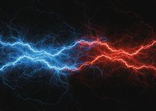 Fite and ice lightning bolt Royalty Free Stock Photo
