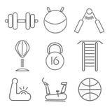 Fitnes set of icons.  Stock Photos