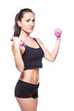 Fitnes woman exercising Royalty Free Stock Image