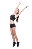 Fitnes woman exercising Royalty Free Stock Photos