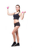 Fitnes woman exercising Royalty Free Stock Images