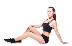 Fitnes woman exercising Stock Image