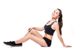 Fitnes woman exercising Stock Images