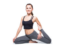 Fitnes woman exercising Stock Photo