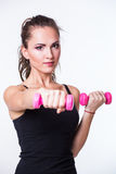 Fitnes woman exercising Stock Photography
