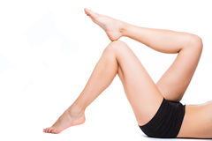 Fitnes woman legs Royalty Free Stock Photography